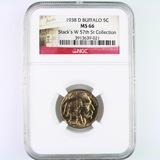 Certified 1938-D U.S. buffalo nickel