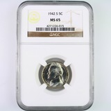 Certified 1942-S U.S. Jefferson nickel