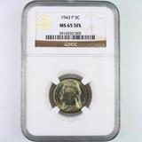 Certified 1943-P U.S. Jefferson nickel
