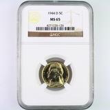 Certified 1944-D U.S. Jefferson nickel