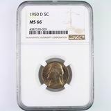 Certified 1950-D U.S. Jefferson nickel