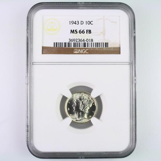 Certified 1943-D U.S. Mercury dime