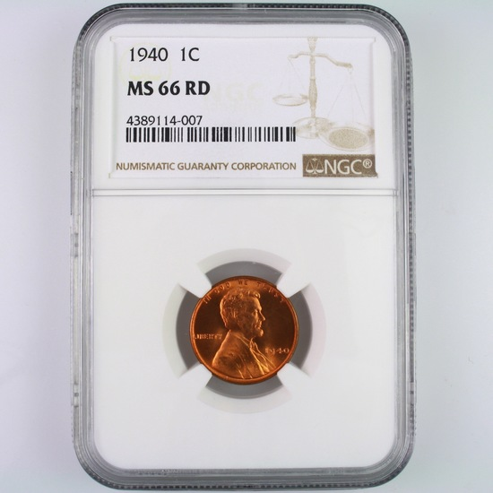 Certified 1940 U.S. Lincoln cent