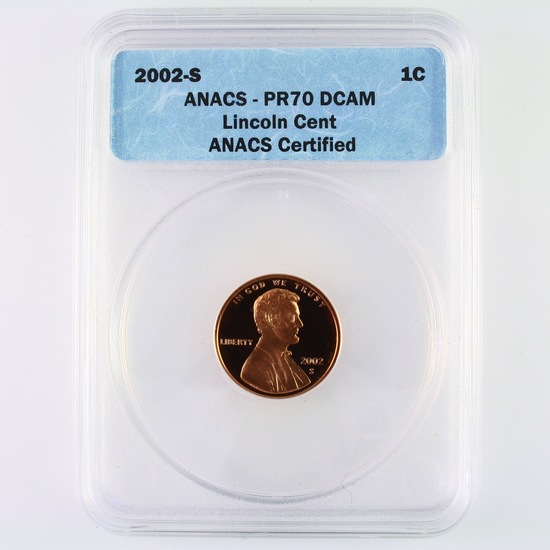 Certified 2002-S U.S. Lincoln cent