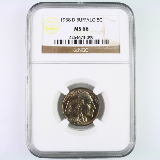 Certified 1938-D U.S. buffalo nickel