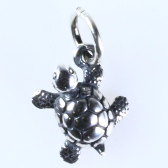 Estate James Avery sterling silver turtle charm