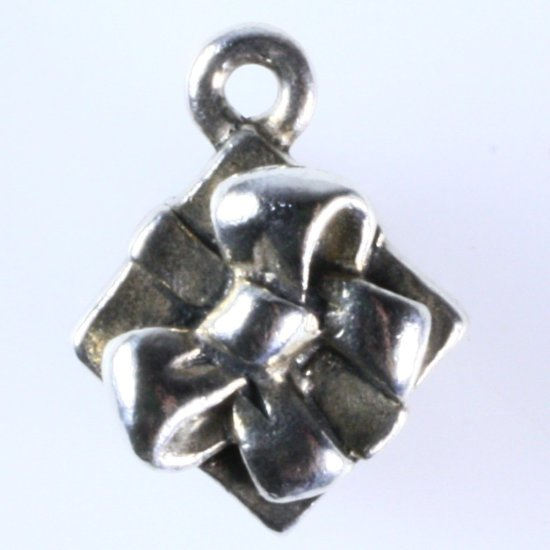 Estate James Avery sterling silver gift box charm