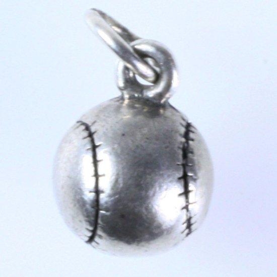 Estate James Avery sterling silver baseball charm