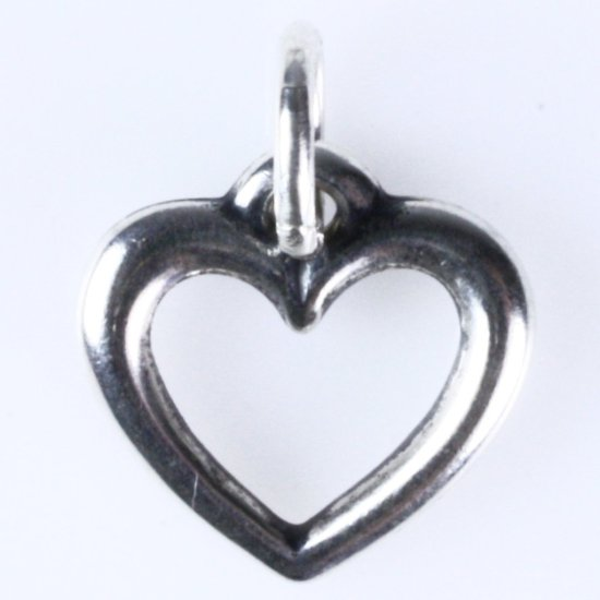 Estate James Avery sterling silver heart charm