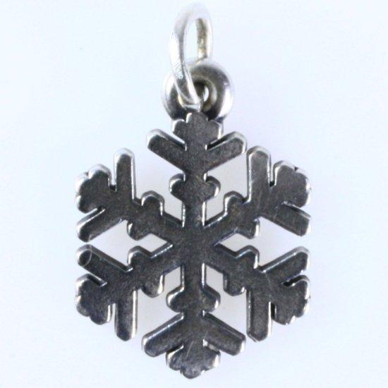 Estate James Avery sterling silver snowflake charm