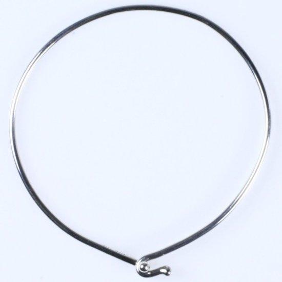 Estate James Avery sterling silver hinged bangle bracelet