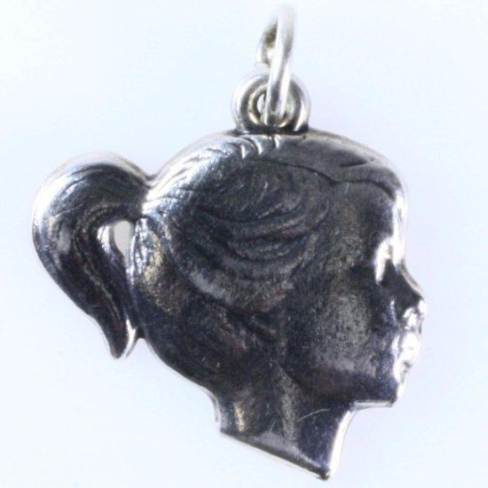 Estate James Avery sterling silver girl charm