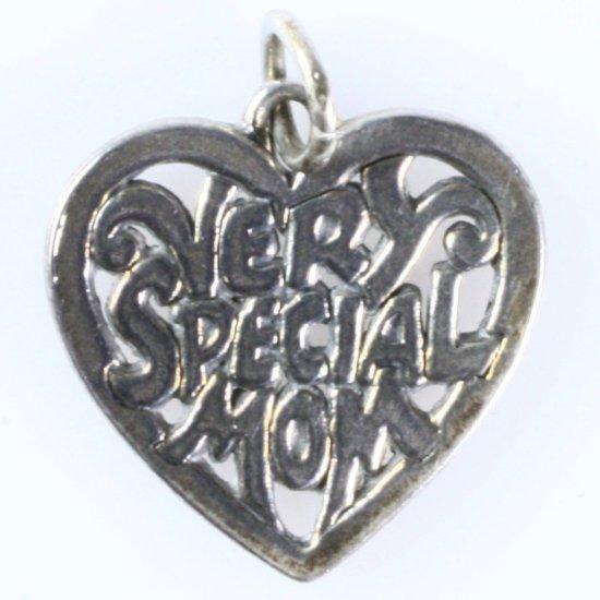"Estate James Avery sterling silver ""Very Special Mom"" heart charm"