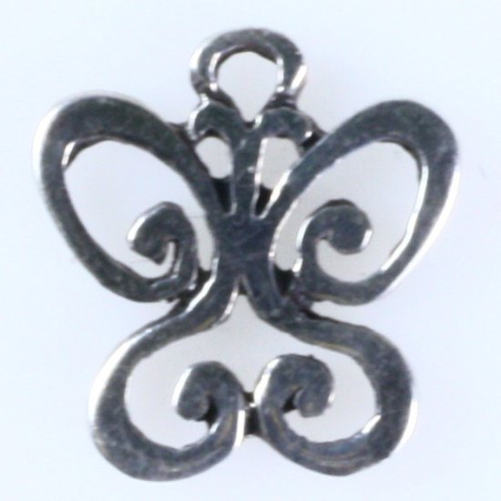 Estate James Avery sterling silver butterfly charm