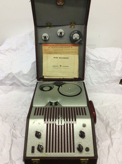 Webster Chicago Wire Recorder