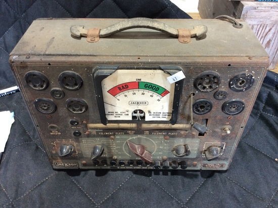 Jackson 636 Vacuum Tube Tester    Auctions Online | Proxibid