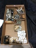 Box Lot of Indicator Lights & Insulators