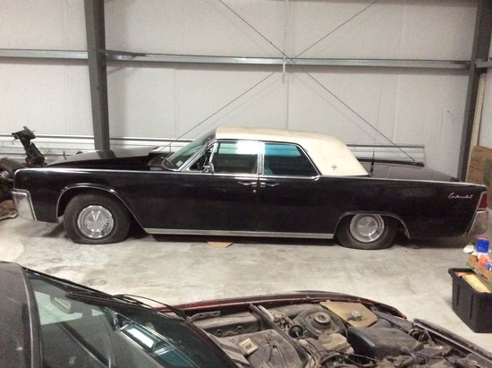 1963 Lincoln Continental Car, Black Satin, with 4 New White Wall Tires, odo