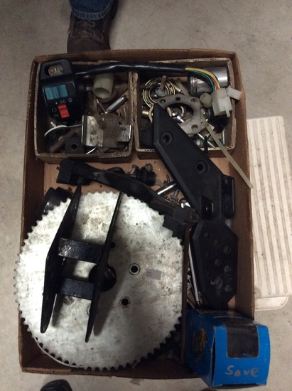 Assortment of Moped Parts