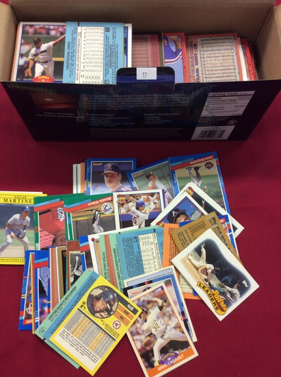 Box of Baseball Cards Late 80's to 90's