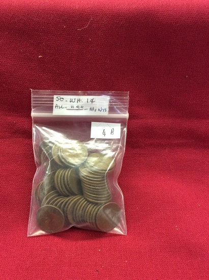 """50 Wheat pennies (""""S"""") Marks"""
