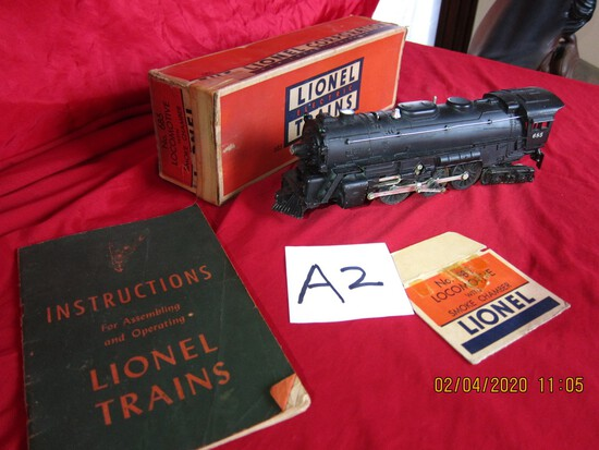 Lionel Locomotive 685 W/1946 Instruction Book