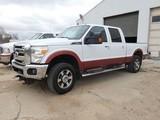 2012 Ford F250SD 4x4 Crew Cab Pickup, SN:1FT7W2B65CEA32055, V8 Gas, Lariat