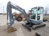 2012 Terex TC37 Mini Excavator, SN:0859, EROPS w/ Heat, Aux. Hyd, Hyd. Thum