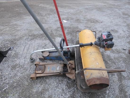 (2) Floorjacks & Heater