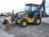 2010 John Deere 410J 4x4 Tractor Loader Backhoe, SN:184852, EROPS w/ Air, 4