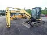 Yanmar VIO55 Mini Excavator, SN:51904B, Cab, Hyd QT, Bucket, 10,455 hrs.