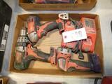 Milwaukee M18 Cordless Drill, Grinder & Light Tools