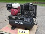 Rollair Portable Air Compressor, Honda GX340 *See video demo!*