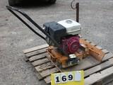 MBW GP5500 Plate Compactor, SN:3188, Honda 8hp Gas