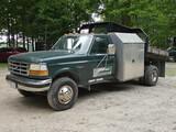 1992 Ford F450SD Flatbed Dump, SN:2FDLF47M3NCA60796, Diesel, Auto, 2wd, Dua