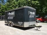 2004 United 8x18 Cargo Tandem Trailer, SN:48BTE18224A068638, 10780# GVWR, 3