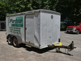 1991 Wells Cargo 6x14 Cargo Tandem Trailer, SN:1WC200F2N0M1050492, Pintle H