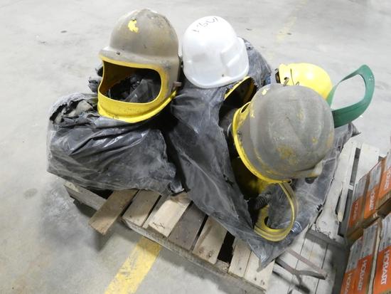 Pallet Sandblasting Helmets