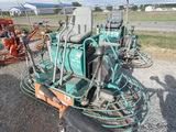 Whiteman MQ HHN84TV Riding Power Trowel, SN:70807007, Diesel