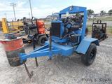 4'' Dewatering Pump, Lombardini Diesel, Trailer mtd.