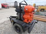 6'' MQ Trash Pump, Deutz Diesel, Trailer mtd.
