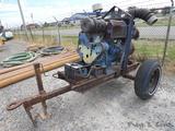 Gorman Rupp 6'' 16A2 Cent. Water Pump, SN:898221, Deutz, Trailer Mtd.