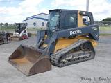 2012 Deere 333D Crawler Skidloader, SN:211496, Cab / Air, Aux Hyd, QT GP Bu