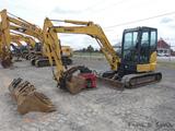2014 Kobelco SK55SRC Mini Excavator, SN:PS05-10180, EROPS, Klac QT & Includ