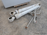 (2) LB330 White Boom Cylinders & Lines