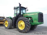 John Deere 9520 Scraper Special 4x4 Tractor, SN RW9520E050842, Cab/Air, Pow