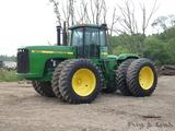 John Deere 9300 4x4 Tractor, SN RW9300P001349, Cab/Air, Powershift, (4) Hyd