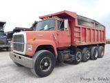 1988 Ford L9000 Quad Axle Dump Truck, 1FDYU90L9JVA25940, Cummins LTA10-300h