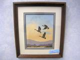 R. J. Nelson Off the Water, Original Watercolor, Framed