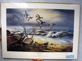 Terry Redlin Bluebill Point, Print, No. 1725/2400, Signed